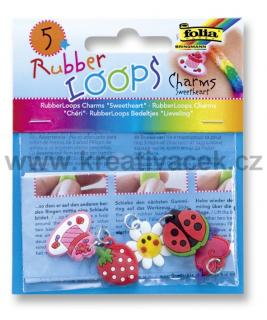 Rubber Loops - přívěšky - SWEETHEART - 5 ks